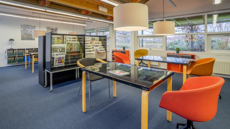 Mødelokale i læsesalen på Nivå Bibliotek