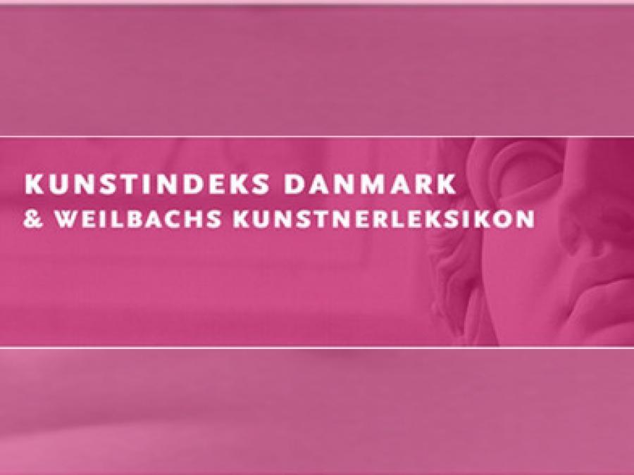 Logo: Kunstindeks Danmark & Weilbachs Kunsterleksikon