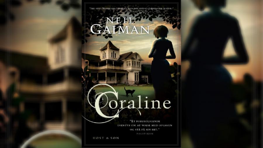 Bogforside: Coraline af Neil Gaiman