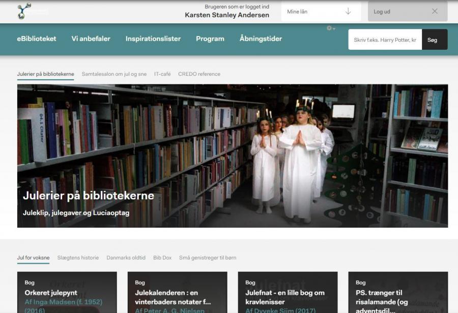 Hjemmesiden har fået nyt design