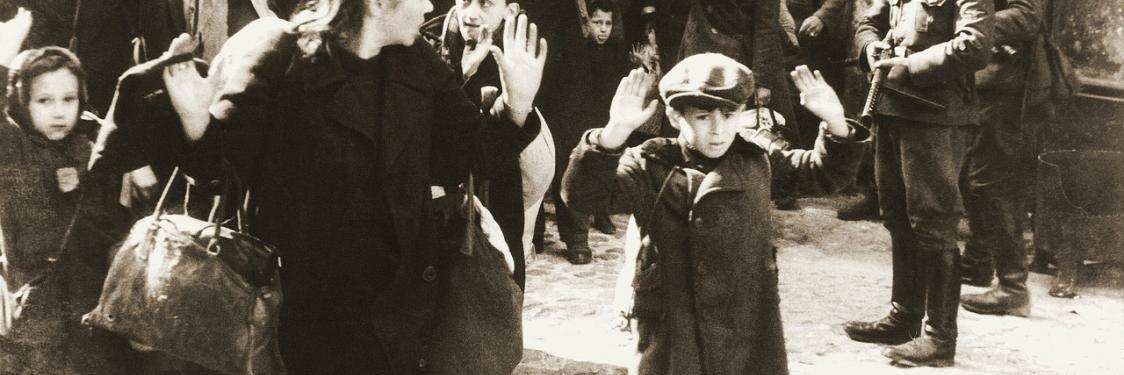 Foto af en scene fra Warszawa under 2. verdenskrig